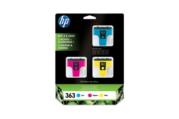 HP Tinten 3-Pack 363 CMY CB333EE PhotoSmart 8250