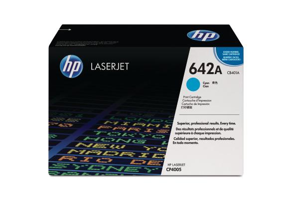 HP Toner-Modul 642A cyan CB401A Color LaserJet CP4005 7500 S.