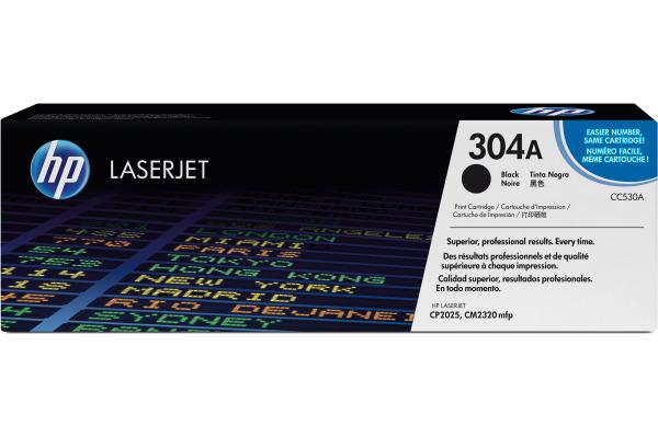 HP Toner-Modul 304A schwarz CC530A Color LaserJet CP2025...