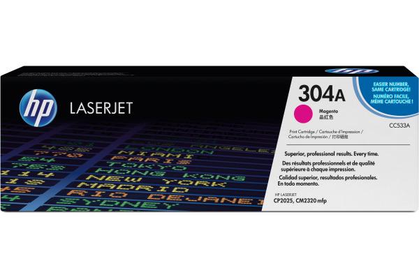 HP Toner-Modul 304A magenta CC533A Color LaserJet CP2025...