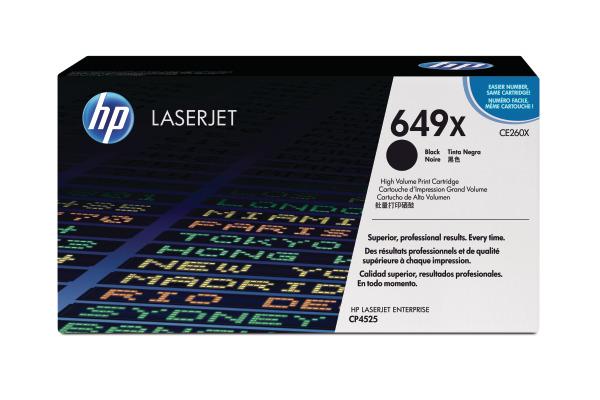 HP Toner-Modul 649X schwarz CE260X Color LJ CP4525 17000...