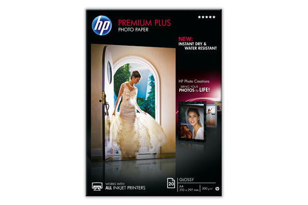 HP Premium Plus Photo Paper A4 CR672A InkJet 300g, glossy 20 Blatt