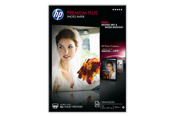 HP Photo Paper Premium Plus A4 CR673A InkJet, seidenmatt 300g 20 Bl.