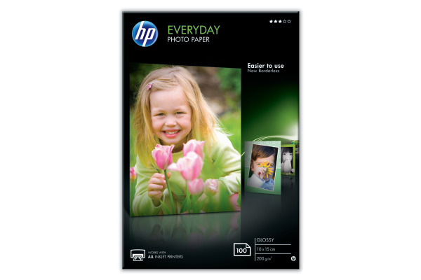 HP Everyday Photo Paper 10x15cm CR757A InkJet, glossy 200g 100 Blatt