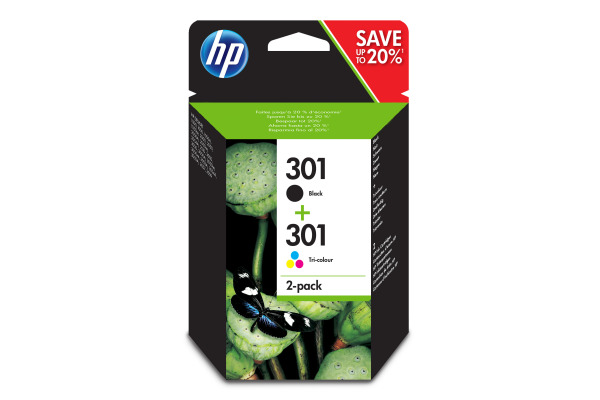HP Combopack 301 BK/color N9J72AE DeskJet 2050 190/165...