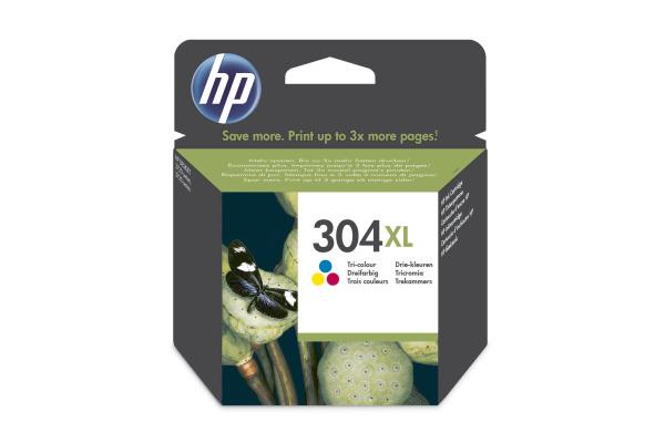 HP Tintenpatrone 304XL color N9K07AE DeskJet 3720/30 300...