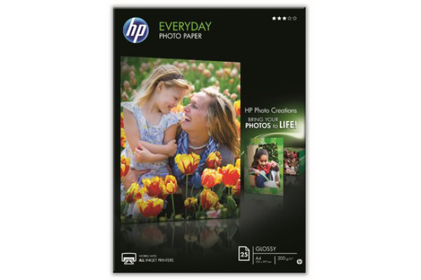 HP Everyday Photo Paper 200g A4 Q5451A InkJet, glossy 25 Blatt