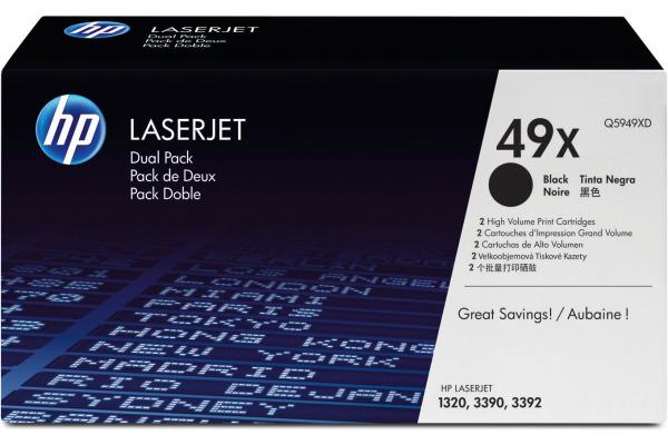 HP Toner-Modul 49X schwarz Q5949XD LaserJet 1320 2 Stück