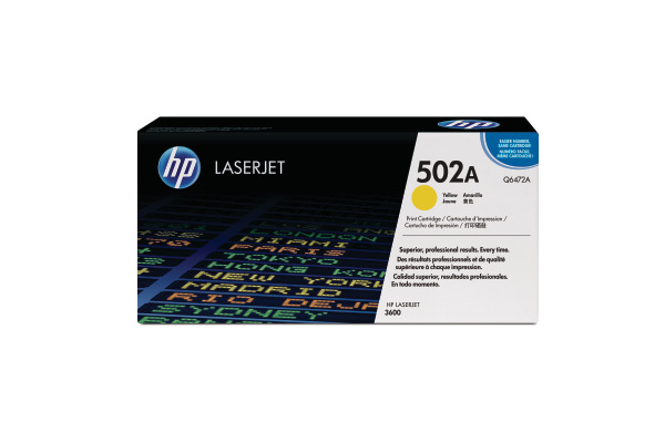HP Toner-Modul 502A yellow Q6472A Color LaserJet 3600 4000 S.