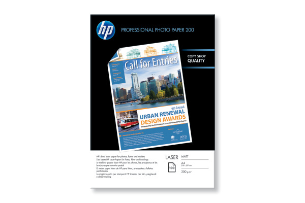HP Photo Paper matt A4 Q6550A Laser, 200g 100 Blatt