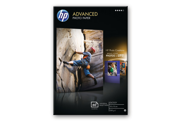 HP Advanced Glossy Photo 10x15cm Q8008A InkJet 250g, randlos 60 Blatt