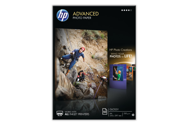 HP Advanced Glossy Photo Pap. A4 Q8698A InkJet 250g 50 Blatt