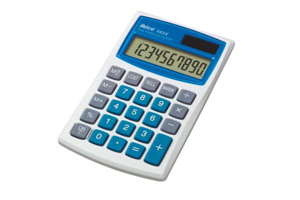 IBICO Taschenrechner 082X IB410017 10-stellig grau blau