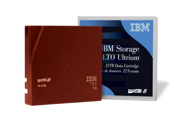 IBM LTO Ultrium 8 12/30TB 01PL054 Data Tape, Library Pack