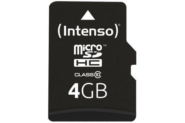 INTENSO micro SDHC Card Class 10 4GB 3413450