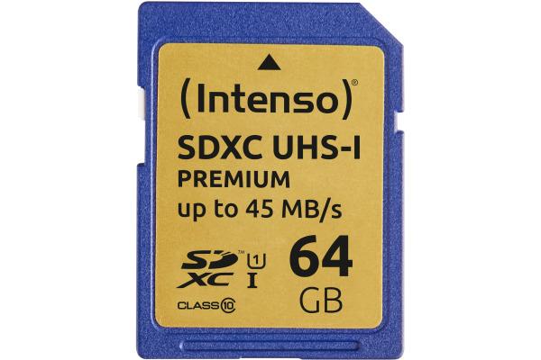 INTENSO SDXC Card PREMIUM 64GB 3421490 UHS-I
