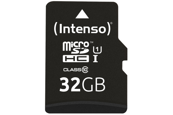 INTENSO Micro SDHC Card PREMIUM 32GB 3423480 with adapter, UHS-1