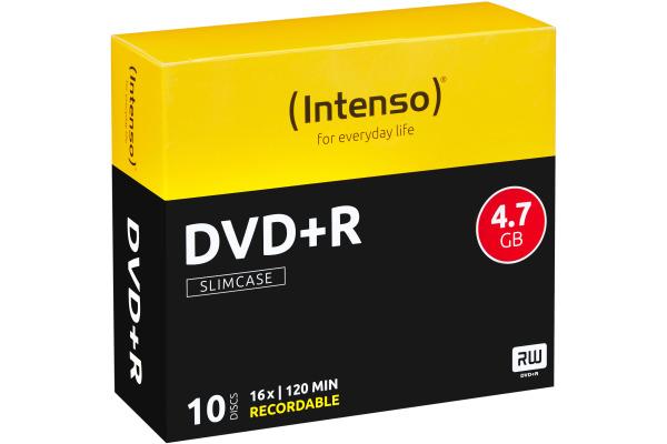 INTENSO DVD+R Slim 4.7GB 4111652 16x 10 Pcs