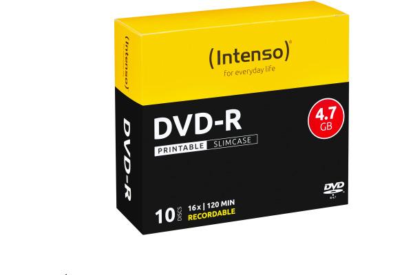 INTENSO DVD-R Slim 4.7GB 4801652 16x Printable 10 Pcs