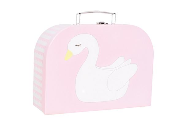 JABADABAD SpielkofferSet Schwan+Flamingo A3115 pink, grau 28x20x9cm