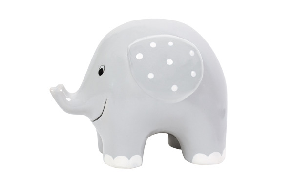 JABADABAD Sparkasse Elefant G10029 grau 15x15x11cm