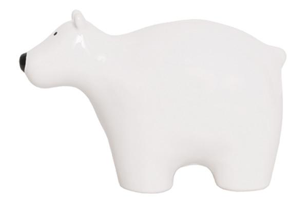 JABADABAD Sparkasse Polarbär G10037 weiss 17x8.5x10.5cm