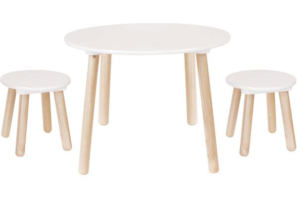 JABADABAD Runder Tisch H13201 inkl. 2 Hocker 59cm