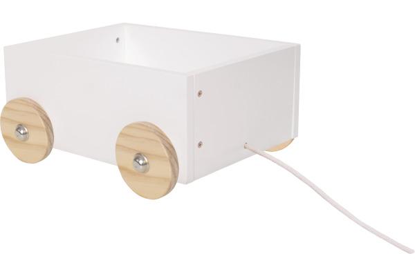 JABADABAD Aufbewahrungsbox auf Rädern H13213 klein, weiss 27x21x12.5cm