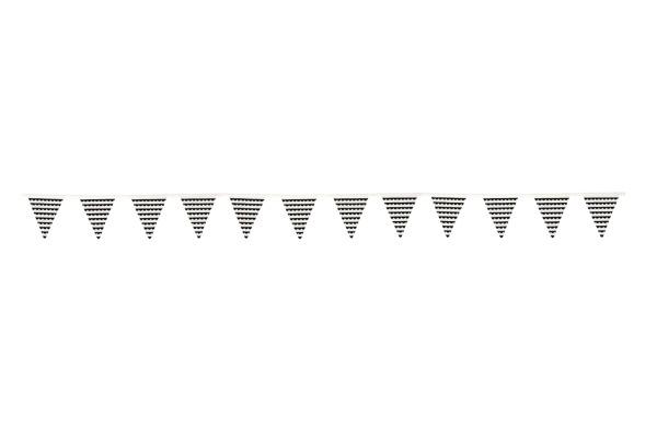JABADABAD Stoffwimpelkette K105 schwarz