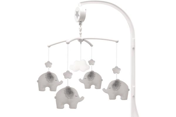 JABADABAD Musik Mobile Elefant Elefant N0094 grau 36x30x8cm
