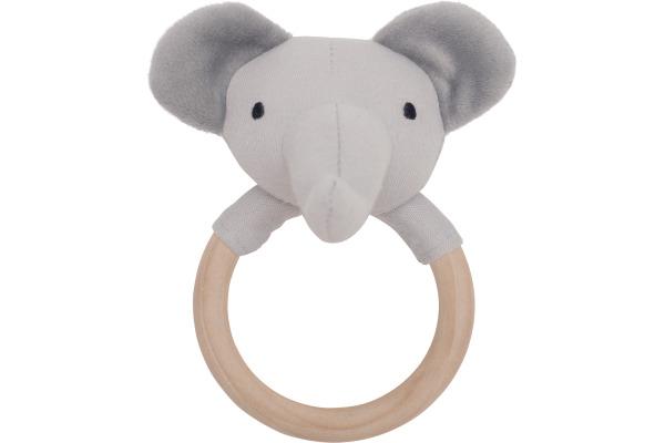 JABADABAD Babyring Elefant N0111 grau