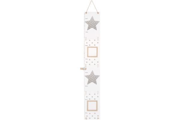 JABADABAD Messlatte Sterne R16013 grau 20.5x14x5cm