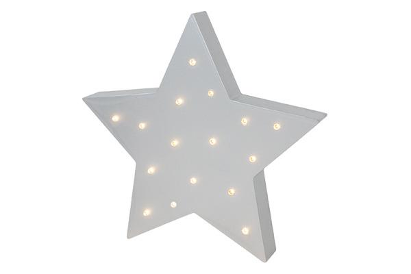 JABADABAD LED-Lampe Stern R16037 silber