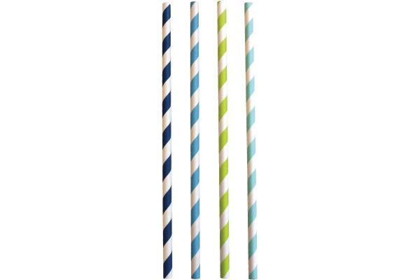 JABADABAD Trinkhalm Z17039 blau/hellblau/grün, 24 Stück