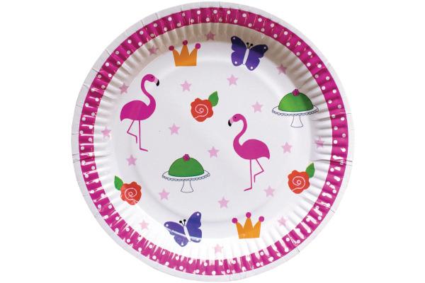 JABADABAD Teller Flamingo 23cm Z17045 8 Stück
