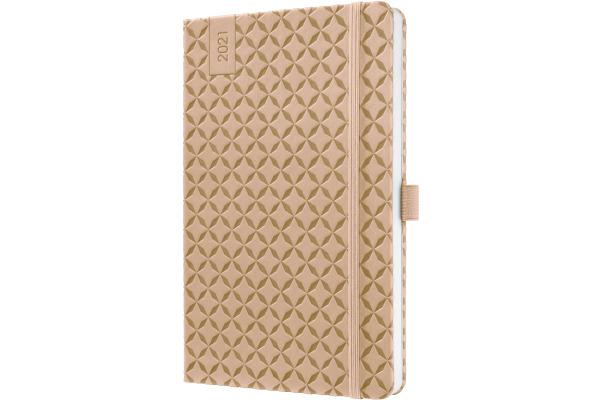 JOLIE Wochenkalender 2021 J1109 beige brown,135x203x16mm