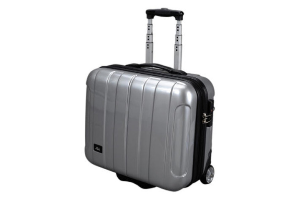 JUSCHA Business Trolley silber 45523 ABS-Polycarbonatmix 43x40x21cm