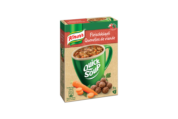 KNORR Quick Soup 22g Fleischk. 3x1 4386 12 Stück