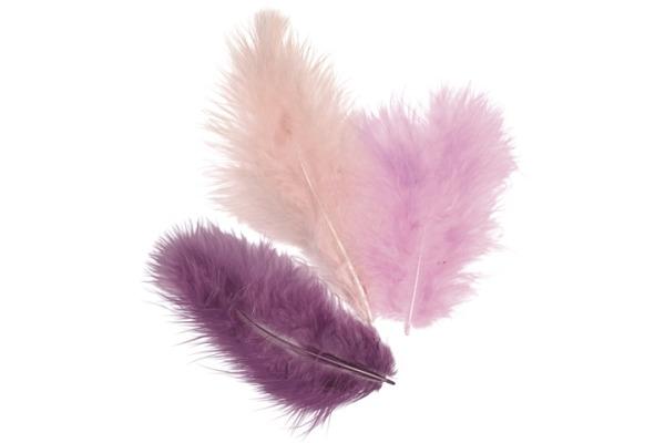 KNORR Marabufedern 10cm 6619928 violett 15 Stück