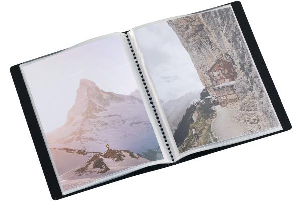 KOLMA Sichtbuch Restless A6 03.741.19 schwarz, für 20 Taschen