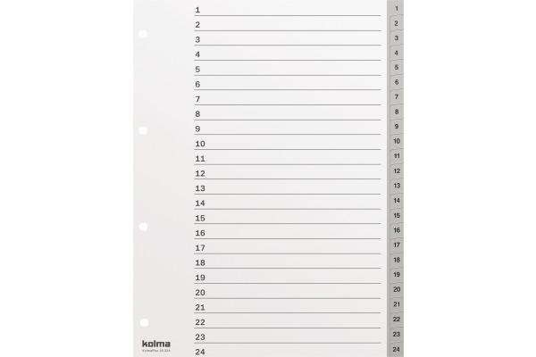 KOLMA Register KolmaFlex A4 18.324.03 grau, 1-24, 4-Loch