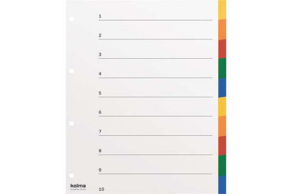 KOLMA Register PP XL A4 18.412.20 10-teilig, blanko