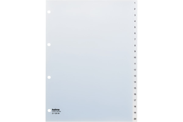 KOLMA Register transparent A4 21.120.00 1-20