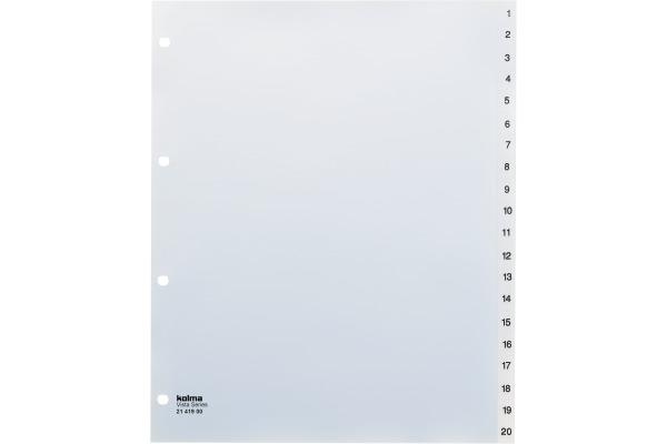 KOLMA Register Vista XL A4 21.419.00 transparent 1-20,...
