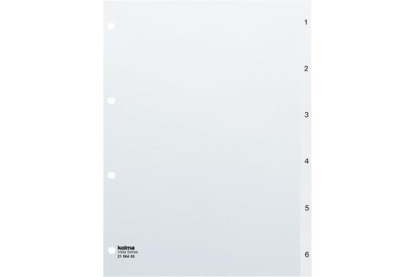 KOLMA Register transparent A4 21.564.00 1-6