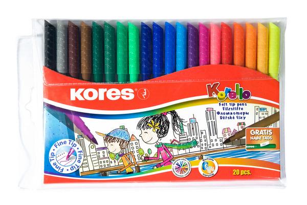 KORES KORELLO Filzmalstifte FS29012 20 Farben/schmal
