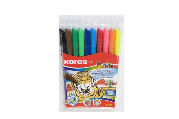 KORES KORELLO Filzmalstifte FS29041 10 Farben/breit