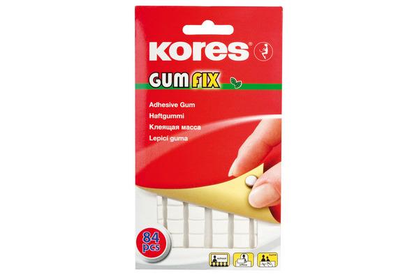 KORES GUMFIX Haftgummi K31600 ablösbar 84 Pads
