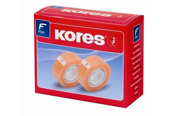 KORES Büro-Klebefilm 33mx12mm K50312 PP transparent