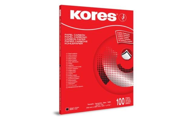 KORES Kohlepapier A4 KD78492 schwarz 100 Blatt